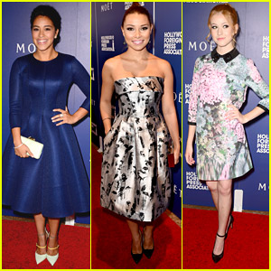 Jane The Virgin's Gina Rodriguez & Happyland's Katherine McNamara Pretty Up The HFPA Banquet 2014