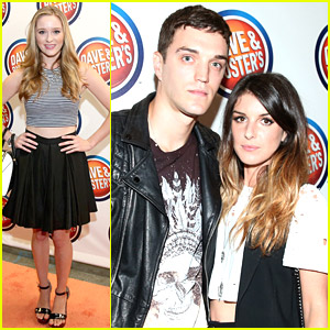 Shenae Grimes & Josh Beech School Everyone In Arcade Games at Dave & Buster's Grand Opening at Hollywood & Highland