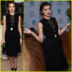 Hailee Steinfeld Makes New Llama Friends at Beyond Hunger