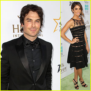 Ian Somerhalder & Girlfriend Nikki Reed Rock Black at Heifer International Gala