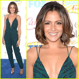 Italia Ricci WOWS In Chic Jumpsuit at the Teen Choice Awards 2014