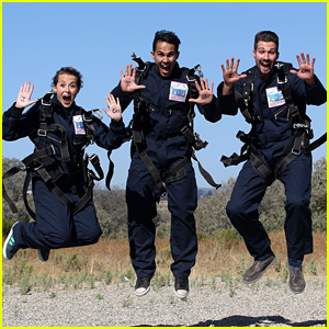 James Maslow Jumps Out of a Plane for Charity with Carlos & Alexa PenaVega!