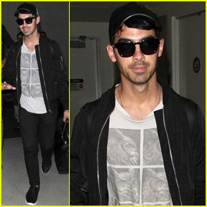 Joe Jonas Arrives Back in L.A. After Whirlwind Trip to Brazil