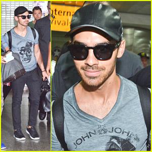 Joe Jonas Arrives in Brazil For John John Denim Event