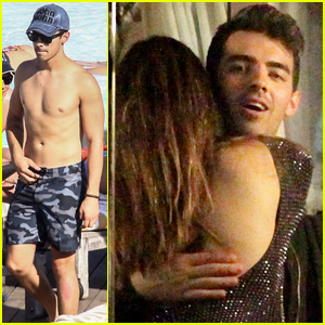 Joe Jonas Relaxes Shirtless Poolside Before Hanging with Brazilian Actress Giovanna Lancellotti