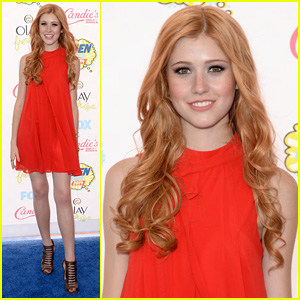 Katherine McNamara is a Red Beauty at Teen Choice Awards 2014