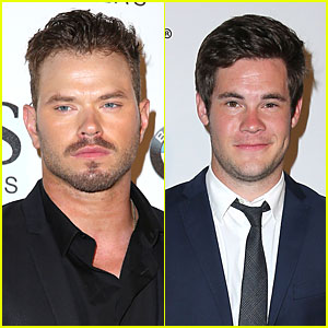 Kellan Lutz & Adam DeVine Suit Up For SLS Grand Opening in Las Vegas