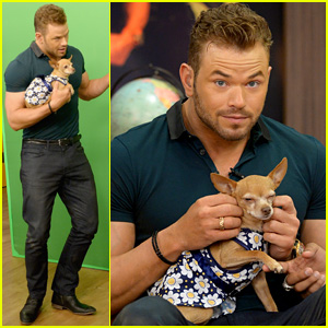 Kellan Lutz Cuddles a Puppy & We Can't Stop Swooning - See the Pics!