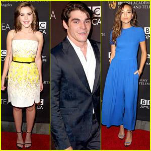 Kiernan Shipka & RJ Mitte Have Tea With BBC America To Celebrate Emmys 2014