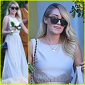 Lauren Conrad Gets Some Wedding Practice as a Bridesmaid at a Friend's Wedding!