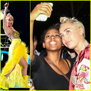 Miley Cyrus Snaps Selfies with Fans After Performance in New York!