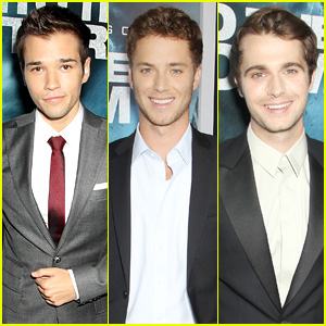 Nathan Kress & Jeremy Sumpter Go 'Into the Storm' in NYC with Max Deacon