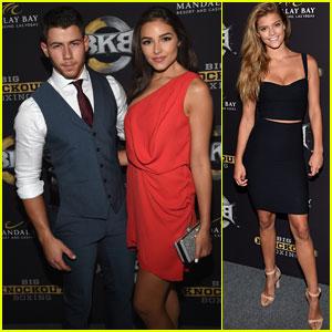 Nick Jonas & Olivia Culpo Strike a Pose at Big Knockout Boxing!