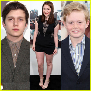 Nick Robinson & Emma Kenney Check Out 'If I Stay' in Hollywood