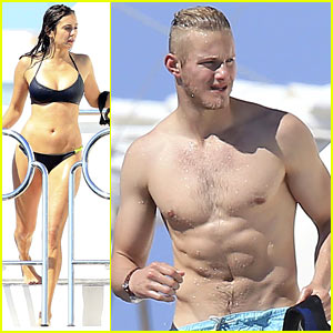 Nina Dobrev Looks Amazing in a Bikini Alongside Alexander Ludwig!