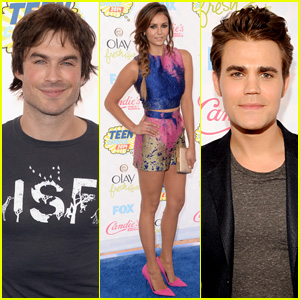 Nina Dobrev & Ian Somerhalder Bring 'TVD' to Teen Choice Awards 2014 with Paul Wesley