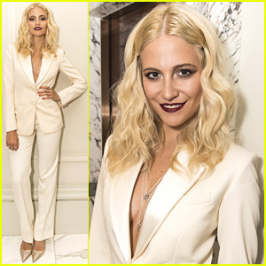 Pixie Lott Wows In Sultry Suit & Dark Lips For Her Album Launch Party