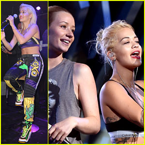 Iggy Azalea Rehearses with Rita Ora for the VMAs!