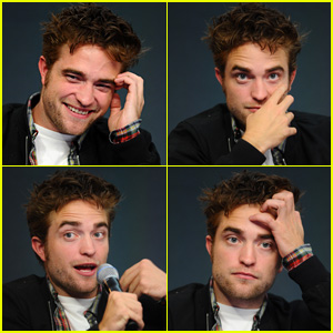 Robert Pattinson Makes the Cutest Facial Expressions at 'The Rover' Apple Store Event