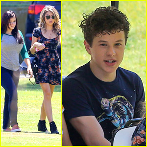 Ariel Winter Gets Back To Work With Sarah Hyland After Showing Off New Puppy, Casper