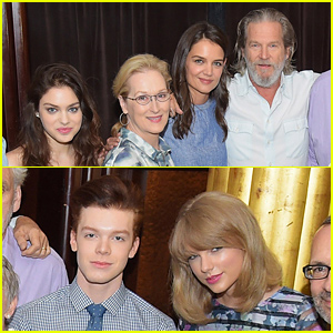 Taylor Swift & Odeya Rush Get Together with the 'Giver' Cast at Press Conference
