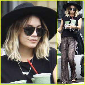 Vanessa Hudgens Picks Up Breakfast for Three!