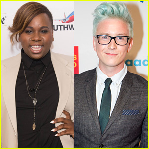 Alex Newell & Tyler Oakley Go GLAAD in San Francisco!
