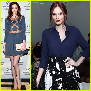 Former Miss USA Alyssa Campanella is a Colorful Beauty at NYFW!