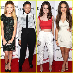G Hannelius & Laura Marano Shine at Teen Vogue's Young Hollywood Party 2014!