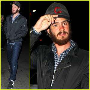 Andrew Garfield Reunites with Director Spike Jonze for Fun Night Out!