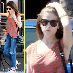 Anna Kendrick Thinks Comedian Jim Gaffigan Would Look Fly in a Purple V-Neck!