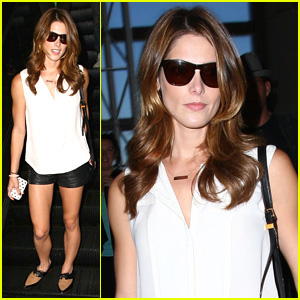 Ashley Greene Flaunts Her Toned Legs at LAX