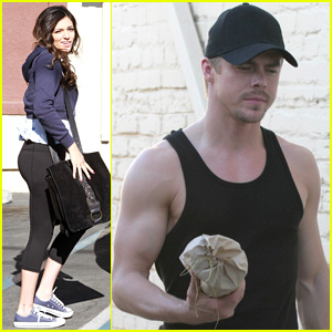 Bethany Mota & Derek Hough Get in One Last Practice Before 'DWTS' Premiere