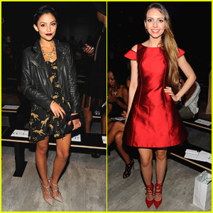 Happyland's Bianca Santos Hits Up New York Fashion Week With Singer Olivia Somerlyn