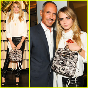 Cara Delevingne Launches Mulberry Collection in NYC After Partying with Karlie Kloss