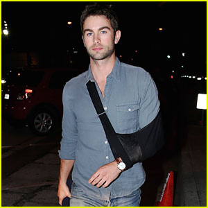 Chace Crawford Sports a Sling on His Arm - But Still Looks Really Hot!