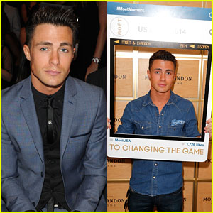 Colton Haynes Makes Us Swoon at the US Open!