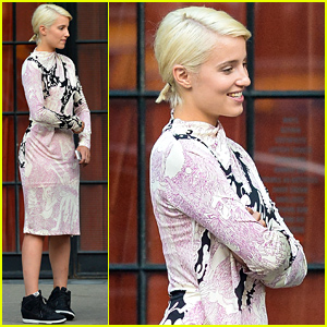 Dianna Agron Steps Out After Participating in Big Global Citizen Festival