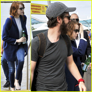 Andrew Garfield & Emma Stone Depart Venice After Eventful Film Festival