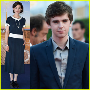 Freddie Highmore & Astrid Berges-Frisbey Hit the Deauville American Film Festival 2014