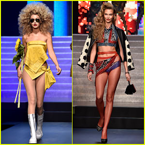 Gigi Hadid & Karlie Kloss Show Lots of Skin for Jean Paul Gaultier Fashion Show!