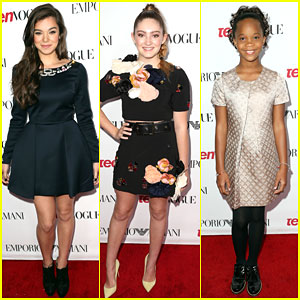 hailee steinfeld  willow shields are red carpet ready at