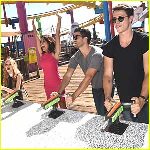 The 'Happyland' Cast Took Over Santa Monica Pier & It Looked Like So Much Fun!