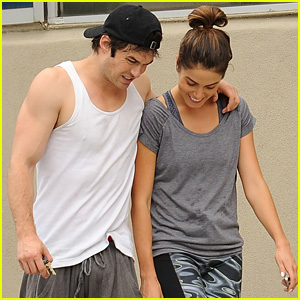 Ian Somerhalder & Nikki Reed Pack on the Post-Gym PDA