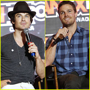 Ian Somerhalder & Stephen Amell Bring Handsome to FanExpo 2014!