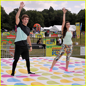 Jack Griffo & Kira Kosarin Have a Blast at Nickelodeon's Worldwide Day of Play 2014!