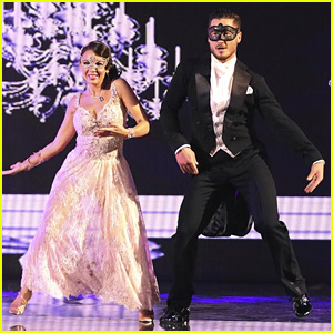 Janel Parrish & Val Chmerkovskiy Disguise Their 'DWTS' Foxtrot - See the Pics!