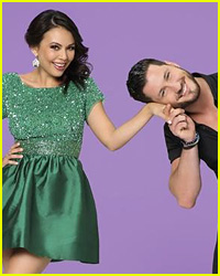 Did Janel Parrish Kiss Her 'DWTS' Partner Val Chmerkovskiy?