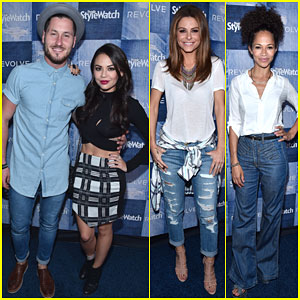 Janel Parrish & Val Chmerkovskiy Are a Perfect Pair at People StyleWatch Event!