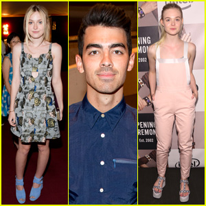 Joe Jonas & Fanning Sisters Check Out 'Opening Ceremony' at NYFW